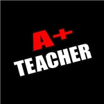 'A+ Teacher' shirts and gifts