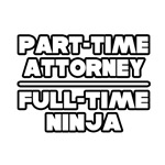 'Part Time Attorney. Full Time Ninja' Shirts and Gifts