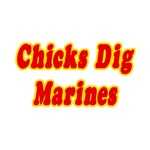 'Chicks Dig Marines' shirts and gifts