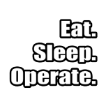 Eat. Sleep. Operate. Cool shirts for surgeons.