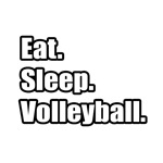 'Eat. Sleep. Volleyball.' shirts and gifts for volleyball coaches