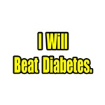 'I Will Beat Diabetes' shirts and gifts